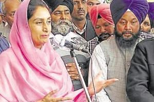 Union Minister of Food Processing Harsimrat Kaur Badal attacked...