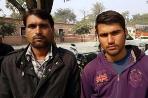 The two, Rameshwar and Satyaprakash, were held after a brief gunfight with the police.