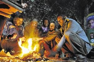 Cold winds sweep Gurgaon as residents shiver