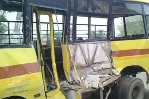 Mathura: School bus turns turtle, 40 kids injured, 10 'serious'
