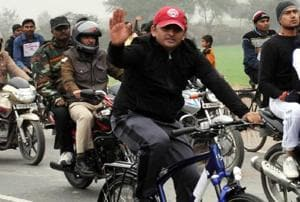 UP elections: Akhilesh back in the race with bicycle but potholes...