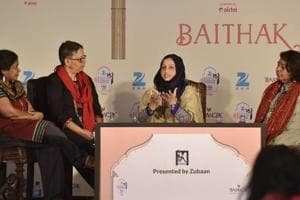 A discussion at the 2015 edition of Jaipur Literature Festival.