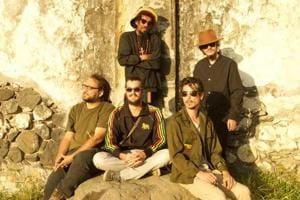 Ti Rat & Rouge Reggae (Ti Rat in centre, standing)