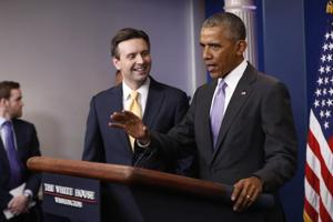 Obama's last surprise: Calls press secy Josh Earnest a really, really...
