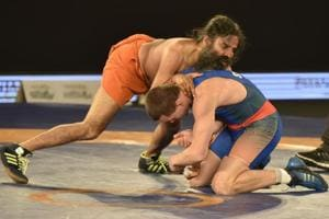 When Baba Ramdev showed his power of yoga in the Pro Wrestling League