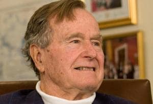 Former US President George HW Bush hospitalised in Houston: TV report