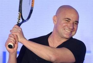 Tennis legend Andre Agassi during the unveiling of India Value Fund Advisors new brand identity