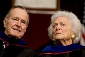 Former US President George HW Bush, wife Barbara remain  hospitalised