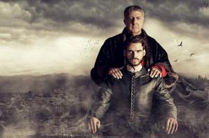 Richard Madden and Dustin Hoffman in Medici.