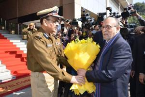In first visit to police HQ, Delhi's L-G Baijal tells cops to focus on...