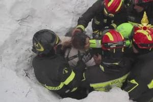 Italy avalanche: Rescuers find 8 alive after being trapped in...