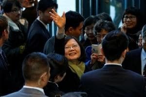 "Taiwan president says aspires to create ""new era"" of peace with China"