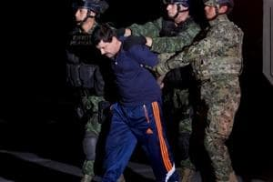 Mexican drug lord 'El Chapo' Guzman is extradited from Mexico prison...