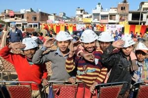 No child's play, this! AAP catches them young as voters-to-be throng...