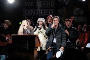 In pics: Mark Ruffalo, Robert De Niro and more rally against Trump in...