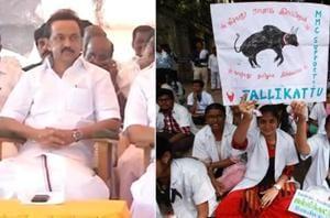 Dravida Munnetra Kazhagam (DMK) leader MK Stalin sat on a hunger...