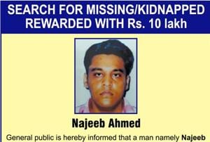 Man arrested after making ransom call to missing JNU student Najeeb's...