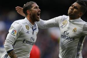 Sergio Ramos scores twice as Real Madrid CF beat Malaga CF to extend...