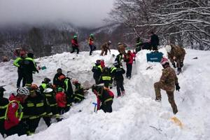 Italy avalanche: Four children, woman rescued after two days