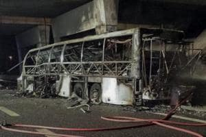 16 killed as Hungarian bus crashes, catches fire in Italy