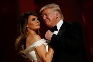 US President Donald Trump's first day ends with inaugural balls and...