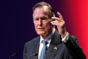 Former US president George HW Bush's health improves