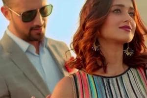 A still from Pakistani artist Atif Aslam's video starring actor Ileana D'Cruz.