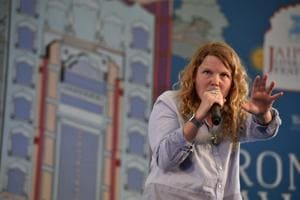 Kate Tempest performs her latest album Let them Eat Chaos at the Jaipur Literature Fest 2017 on Thursday.