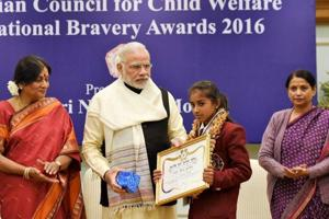 PM Modi felicitates 25 children with bravery awards