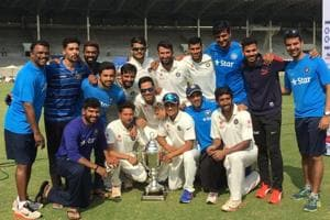 Wriddhiman Saha's double century helps Rest of India clinch Irani...