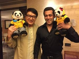 See pic: Action star Jackie Chan meets Salman Khan