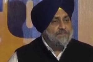 Punjab's Deputy Chief Minister Sukhbir Singh Badal released the...