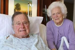Former US prez George Bush senior out of intensive care, wife Barbara...