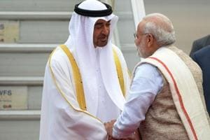 PM Modi receives Republic Day chief guest Crown Prince of Abu Dhabi at...