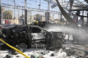 Car bomb explosion kills 3, injures 14 in Iraqi capital Baghdad:...
