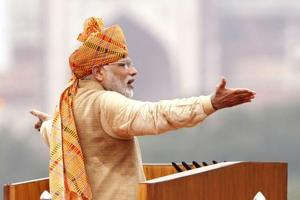 Prime Minister Narendra Modi at the Red Fort on the occasion of 69th Independence Day celebrations in New Delhi.  Neither the national capital nor Delhi's Red Fort have any special place in it beyond tradition. Freedom belongs equally to residents of the smallest village in Meghalaya or Kerala.