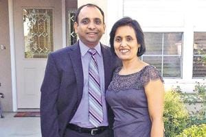 Rakesh Srivastava with his wife Anchala Srivastava.