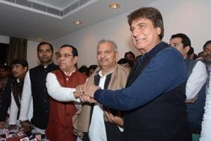Samajwadi Party state president Narsh Uttam and Congress state president Raj Babbar recently announced the alliance for upcoming elections.