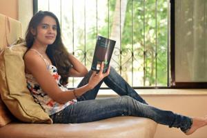 Author Karishma Attari at her Bandra residence