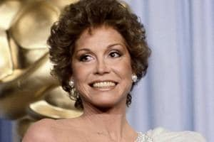 Mary Tyler Moore at the 53rd Academy Awards in Los Angeles. Moore, nominated for Best Actress for her film Ordinary People, lost out to Sissy Spacek for Coal Miner