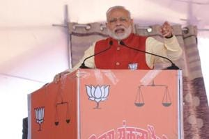 Prime minister Narendra Modi addressing an election rally at Jalandhar,  Punjab, on  January 27, 2017.