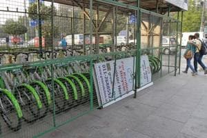 Three cycle-sharing stands show how pedalling can plug last-mile gap in Delhi