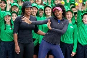 Serena (left) and her sister Venus know no matter who loses, a Williams will win this Australian Open.