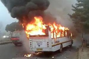 Gurgaon school bus fire: Transport authority vows action against school