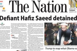 How Pakistani newspapers reported Hafiz Saeed's detention