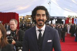 Dev Patel arrives at the 23rd annual Screen Actors Guild Awards at the Shrine Auditorium & Expo Hall on Sunday.