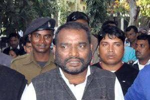 Former state minister Harinarayan Rai coming out from a court after his conviction in a case in Ranchi.