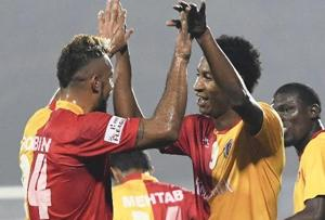 I-League:Willis Plaza guides East Bengal FC to 2-0 victory over Mumbai FC