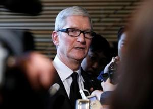 Apple Inc CEO Tim Cook said hundreds of the company's employees have been affected by Donald Trump's executive order on immigration, and that Apple was considering taking legal action.
