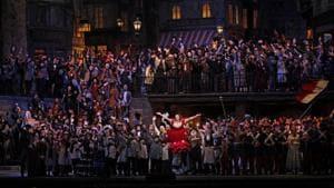 A previous staging of La Bohème at the Metropolitan Opera, New York.